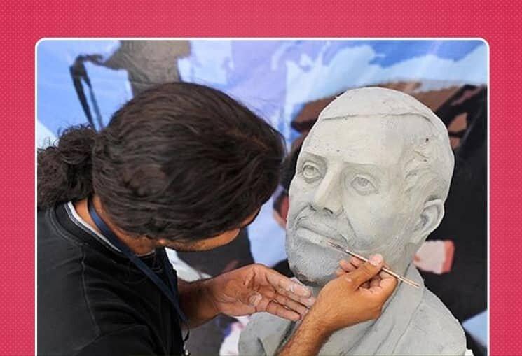 هنرنمایی مجسمهسازان کشور با نقش سرداران کاشانی