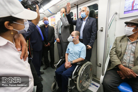 Isfahan Metro accessible for wheelchair bound people