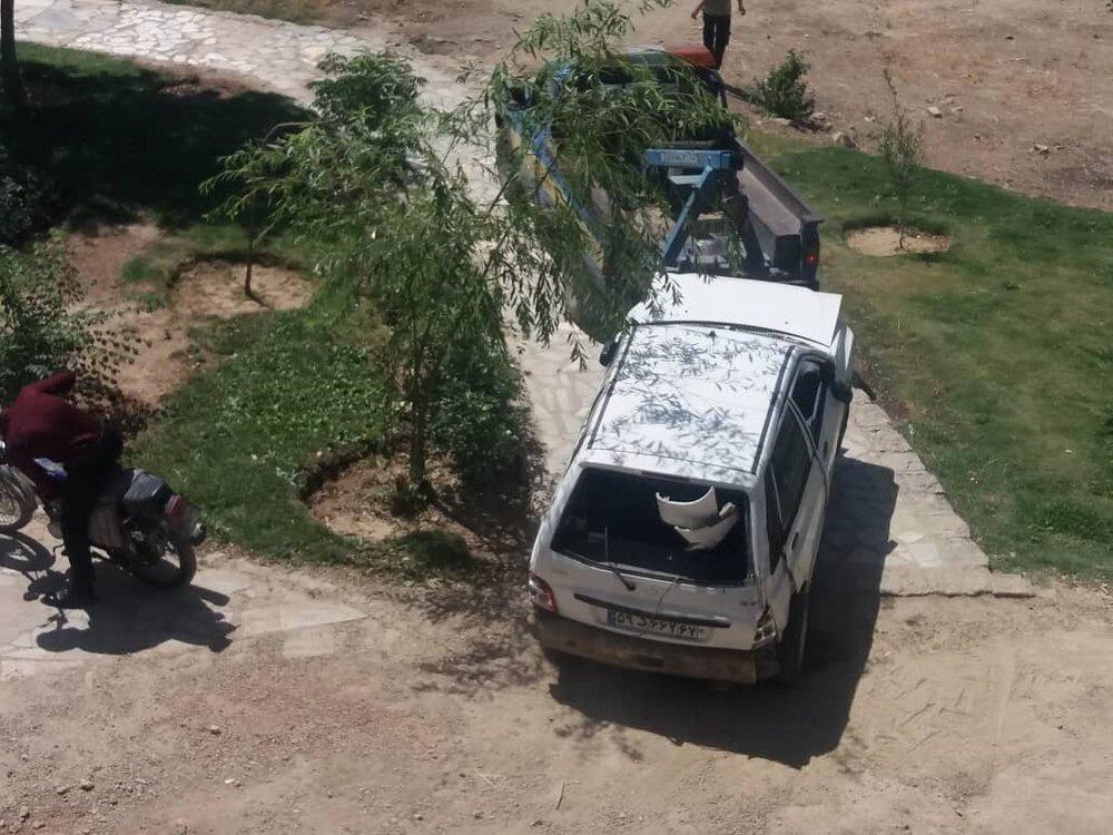 جزئیات سقوط دلخراش پراید از روی پل وحید + عکس