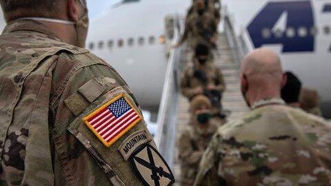 چند درصد از نظامیان آمریکا از افغانستان خارج شدند؟