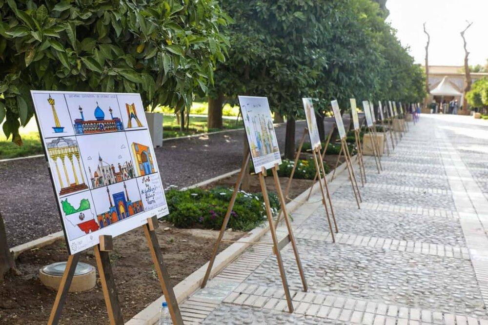 کمیسیون ملی یونسکو از نقاشیهای کودکان حیدرآباد با موضوع شیراز حمایت میکند