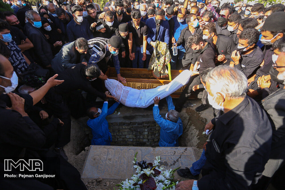 مراسم تشییع مدیرکل میراث فرهنگی استان اصفهان