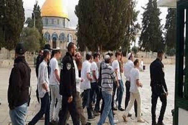 شهرک نشینان صهیونیست به «مسجد الاقصی» یورش بردند
