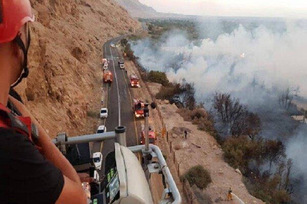 وقوع آتشسوزی گسترده در شهرکهای صهیونیستنشینِ مجاور «غزه»