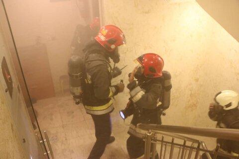 آتش سوزی شدید یک خانه ویلایی در انزلی