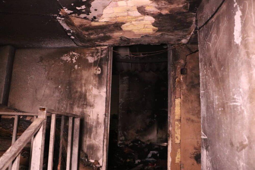 آتش سوزی منزل مسکونی در خیابان شهید سپاسی شیراز
