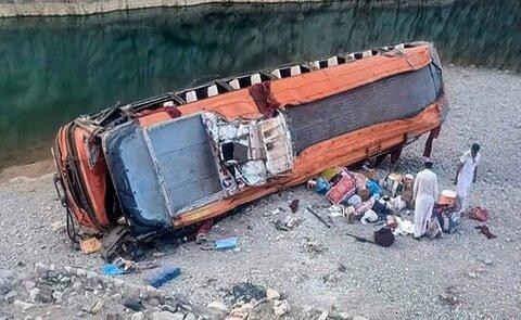 ۷۰ کشته و زخمی در حادثه تصادف اتوبوس