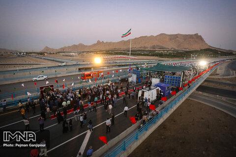 حاشیه آیین افتتاح ابرپروژه مجموعه پلها شهید سلیمانی