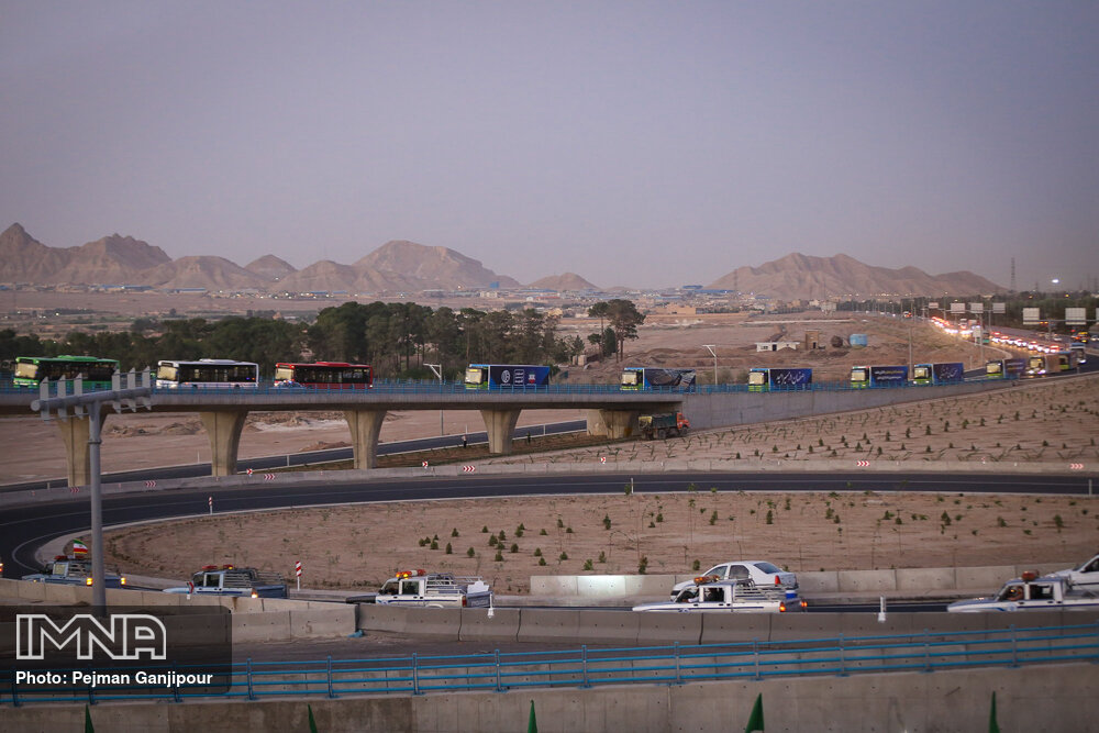 ابرپروژه شهید سلیمانی کاهش حجم ترافیک شرق اصفهان را به دنبال داشت