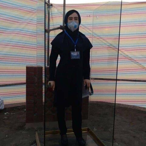 نصب تندیس اولین شهیده سلامت کشور در کلاچای