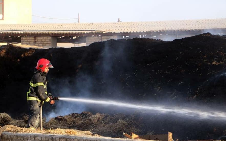 ساختمان اداری ۴ طبقه در تهران آتش گرفت