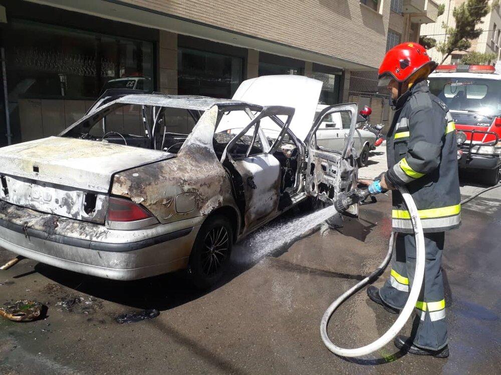 جزئیات انفجار خودرو سمند در خیابان بهار آزادی+  عکس