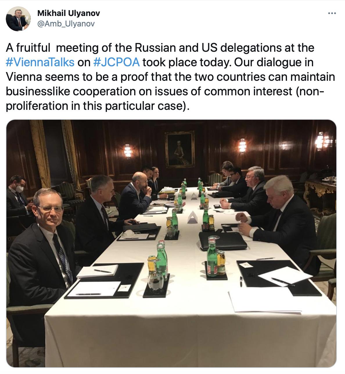اولیانوف: دیدار هیاتهای آمریکا و روسیه بر سر برجام پرثمر بود