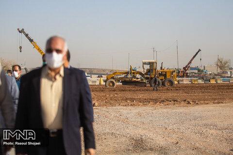 بازدید شهردار از محل پروژه حلقه چهارم حفاظتی