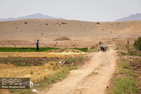 Isfahan's arable land drying up!