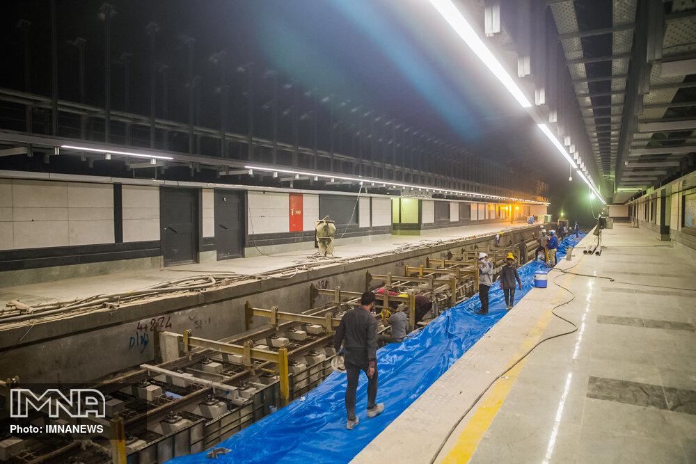 مراحل پایانی پروژه قطار شهری کرج