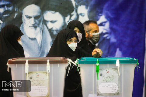 Iranian enthusiasm at polling stations across Iran captured in shots