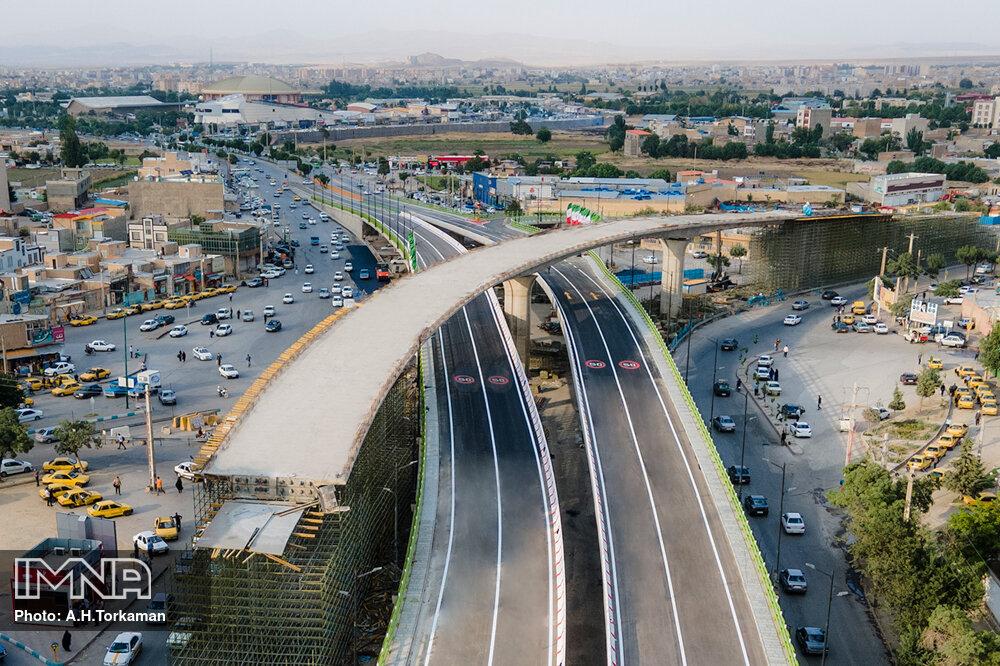 مراسم افتتاحیه تقاطع چند سطحی سردار شهید همدانی