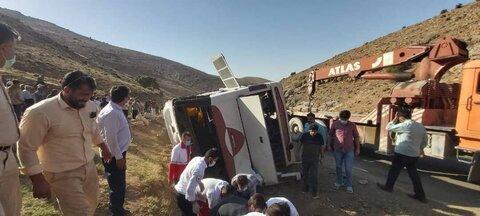 علت حادثه اتوبوس خبرنگاران در نقده اعلام شد
