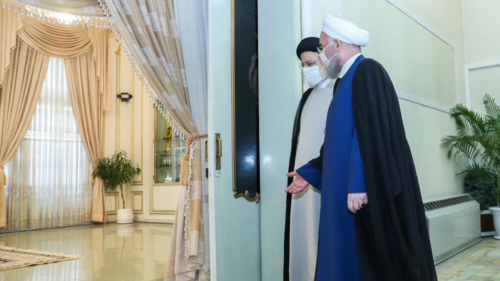 President Rouhani, President-elect Raeisi meet for 2nd time weeks before transition