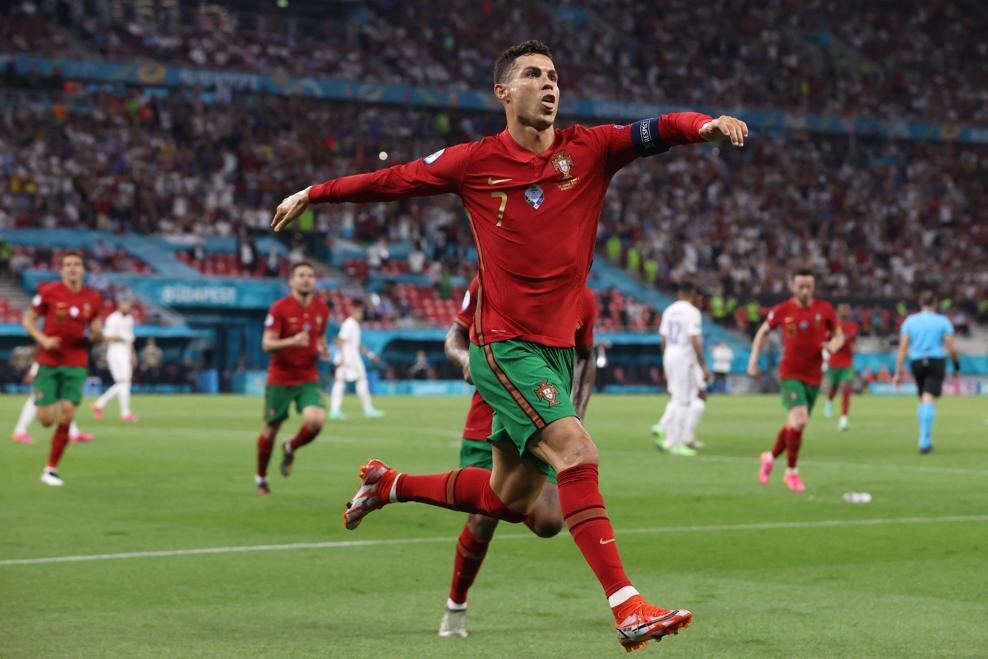 پرتغال ۲- فرانسه ۲/تقسیم امتیازات در شب تساوی رونالدو با دایی