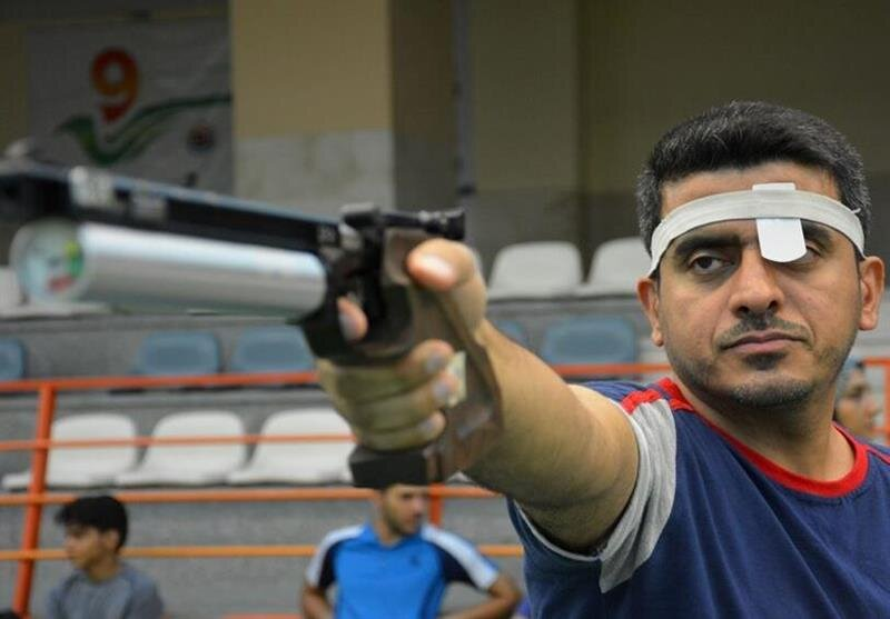 Javad Foroughi strikes gold in the men's 10m air pistol final