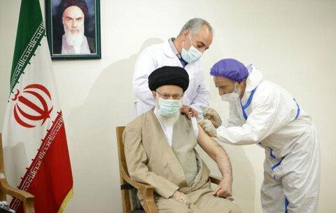 رهبر انقلاب دُز اول واکسن کووایران برکت را دریافت کردند