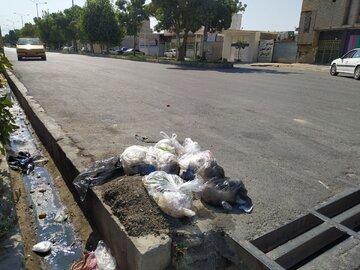 پاکسازی زباله و نخاله حاشیه میدان بسیج و کمربندیهای دهدشت
