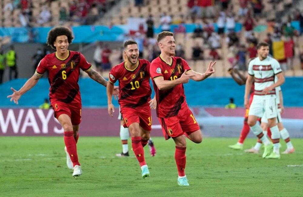 بلژیک یک- پرتغال صفر / حذف مدافع قهرمانی با شلیک هازارد