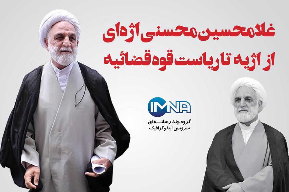 غلامحسین محسنی اژهای؛ از اژیه تا ریاست قوه قضائیه + زندگینامه و سوابق اجرایی و قضایی