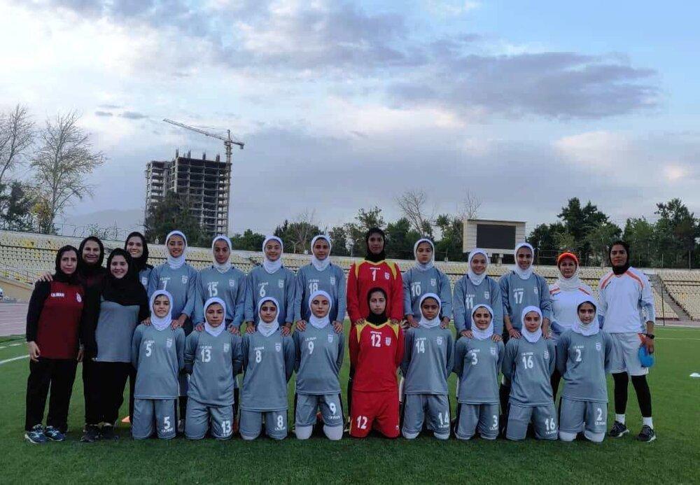 پیروزی پرگل دختران فوتبالیست ایران در تورنمنت کافا