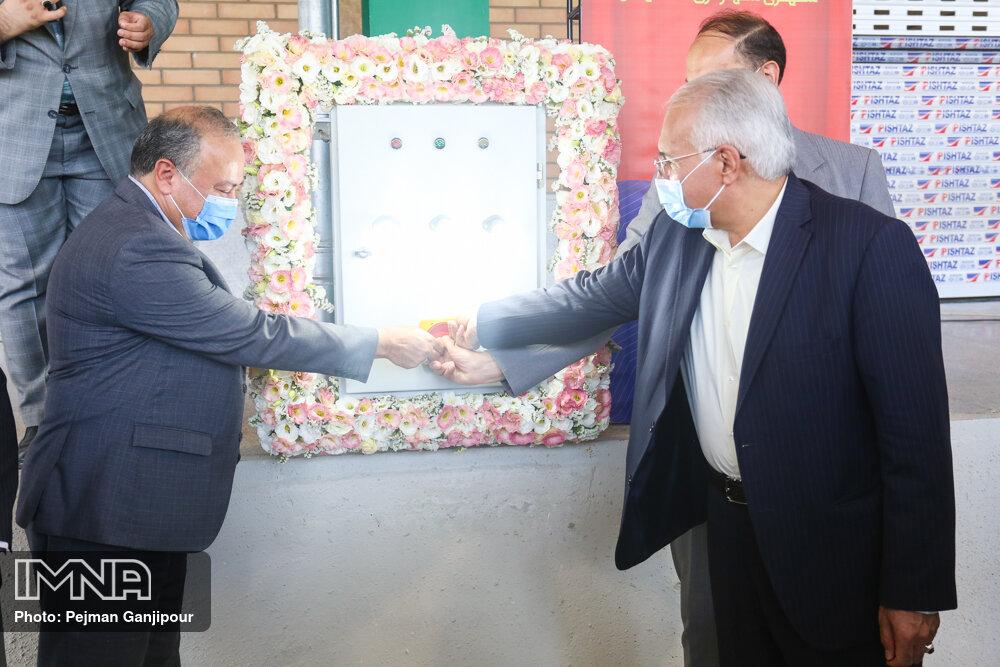 آئین افتتاح پروژه های عمرانی و خدماتی سازمان میادین میوه و تره بار