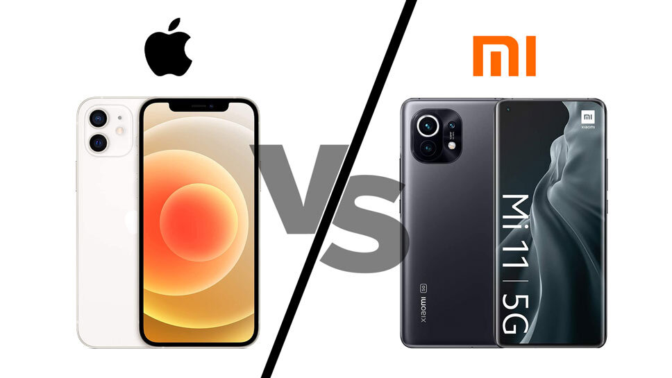 مقایسه گوشی شیائومی Mi 11  و اپل iPhone 12+ لیست جزئیات