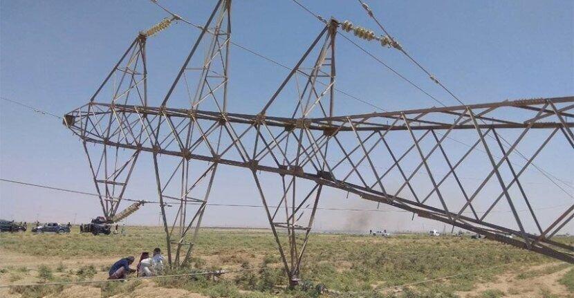 دو دکل انتقال برق ایران به عراق در دیالی منفجر شد