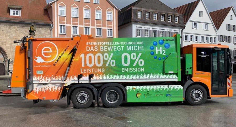 مدیریت پسماند ضایعات آلمان با کامیونهای هیدروژنی