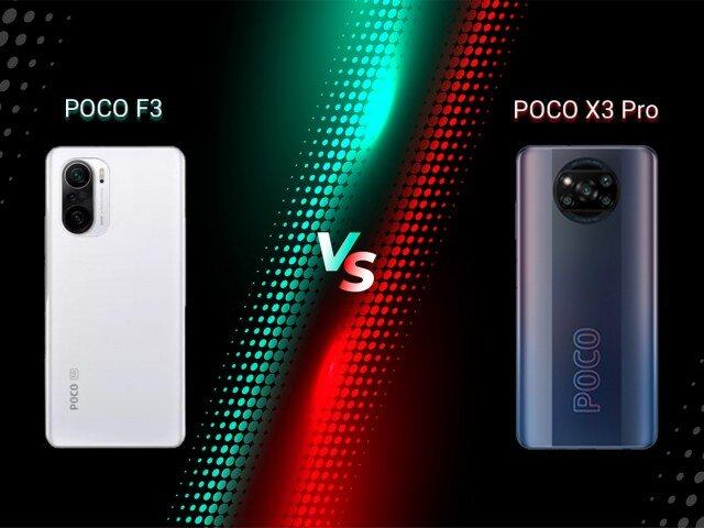 مقایسه گوشی شیائومی POCO X3 PRO و POCO F3 + لیست جزئیات