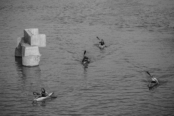 تمرین کانوسوارهای اصفهانی در زاینده رود