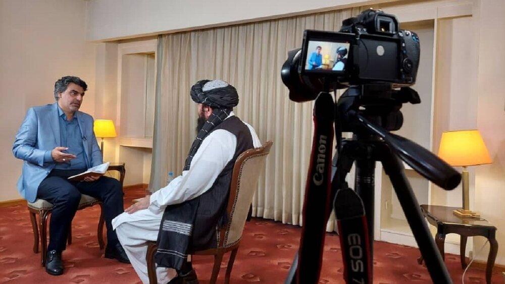 پخش مصاحبه پرس تی وی با یکی از رهبران طالبان از تلویزیون