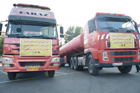 اعزام ۲ دستگاه تریلر آبرسان از شهرداری کرج به سوسنگرد