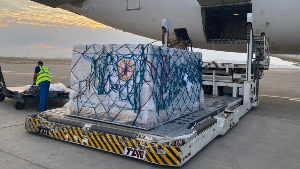 اولین بخش از محموله واکسن کرونای ژاپنی وارد فرودگاه امام شد