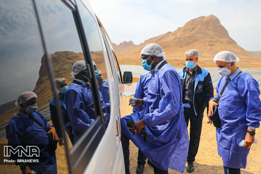 بازدید مشترک سفیر سنگال در ایران و سفیر ایران در سنگال  از کارخانه پسماند