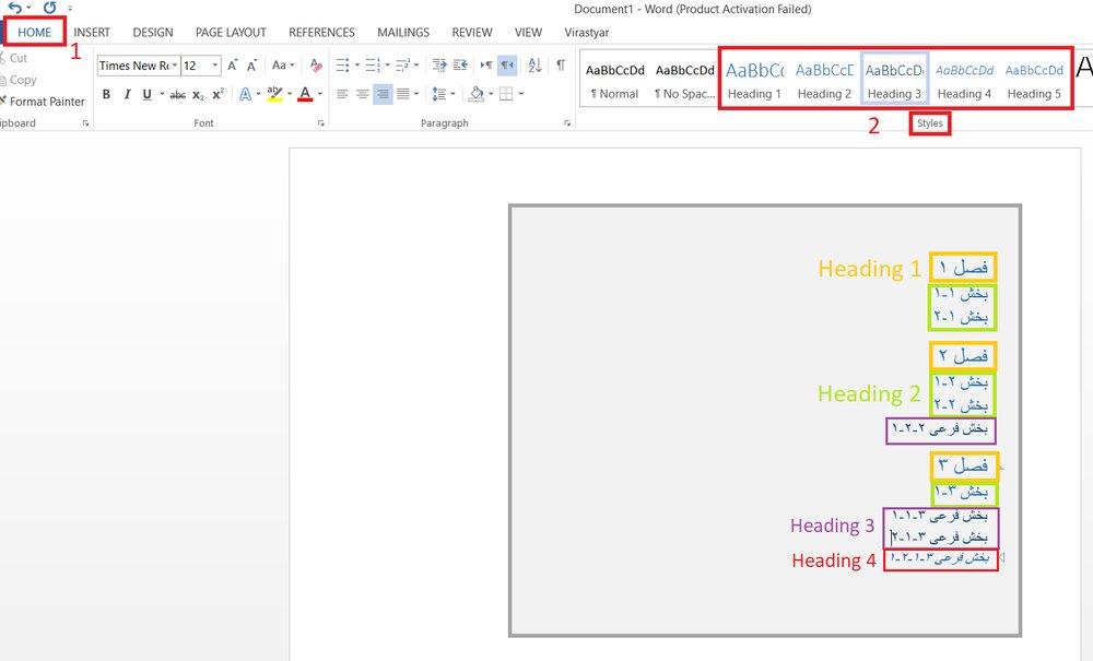 آموزش تصویری ایجاد فهرست مطالب در ورد + ساخت، ویرایش و حذف خودکار