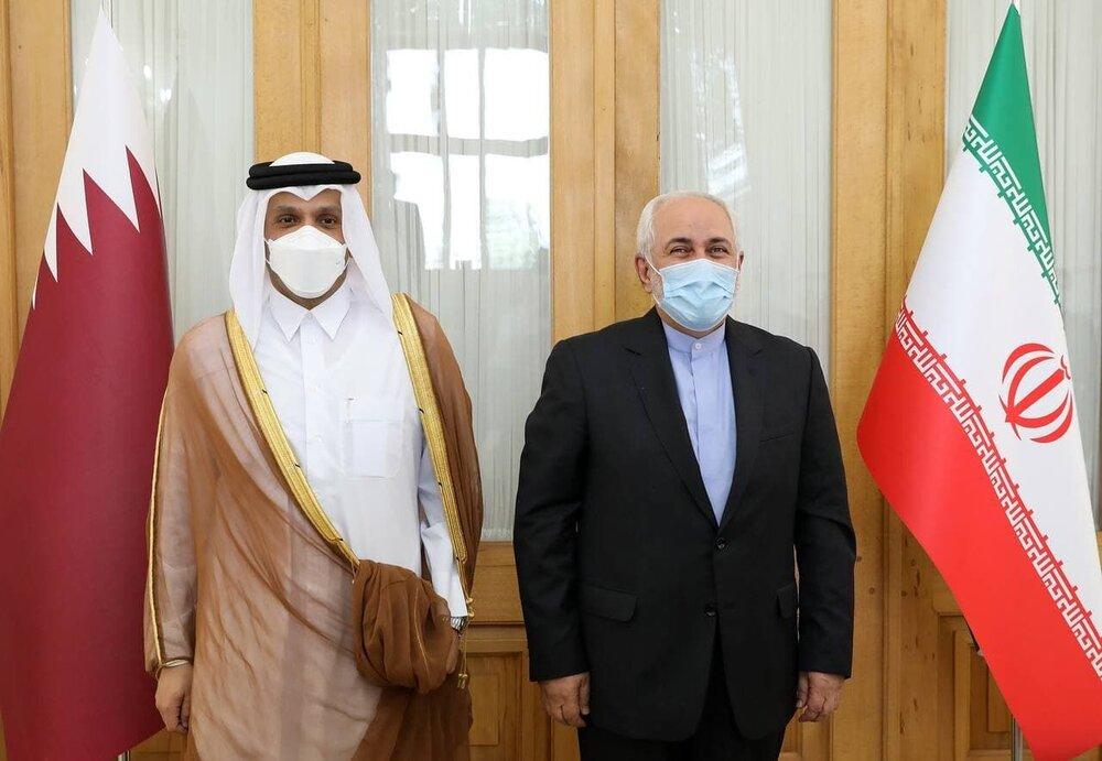 وزیران خارجه ایران و قطر پیرامون تحولات منطقه رایزنی کردند