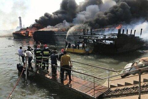 آتشسوزی در تأسیسات نفتی غرب کارون