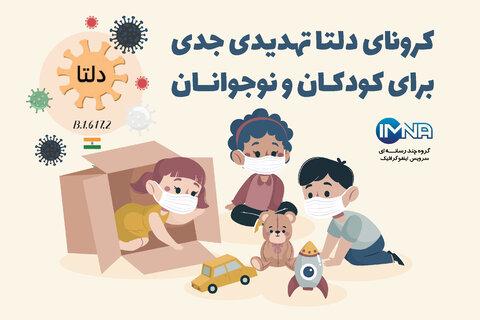 کرونای دلتا تهدیدی جدی برای کودکان و نوجوانان + علائم ویروس دلتا در کودکان