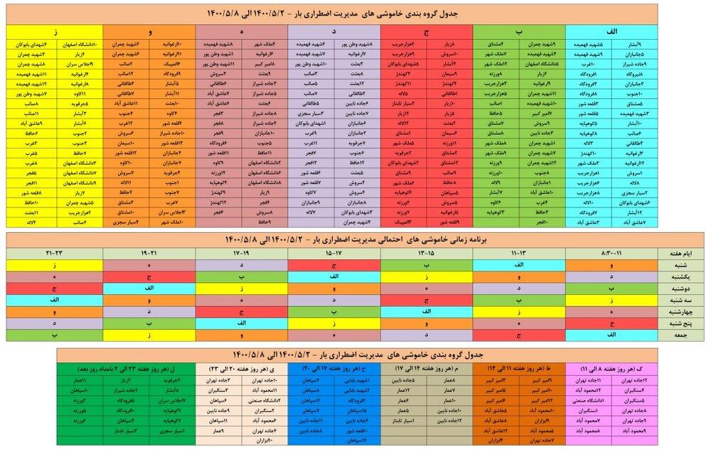 برنامه قطعی برق اصفهان ۴ تا ۸ مرداد ۱۴۰۰ + ساعات قطع، لیست مناطق و دانلود جدول برق