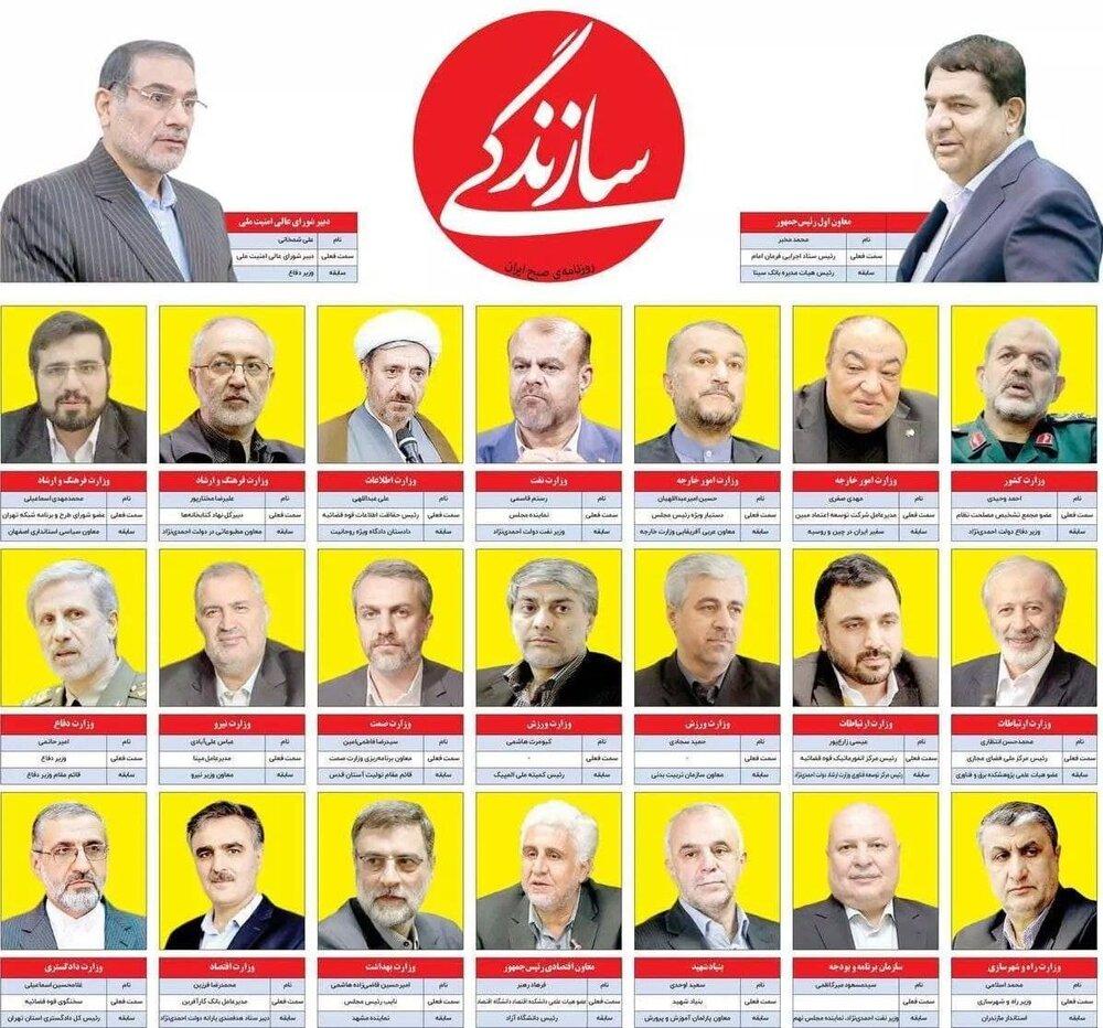 کابینه دولت رئیسی مشخص شد؟ + لیست اسامی وزرا
