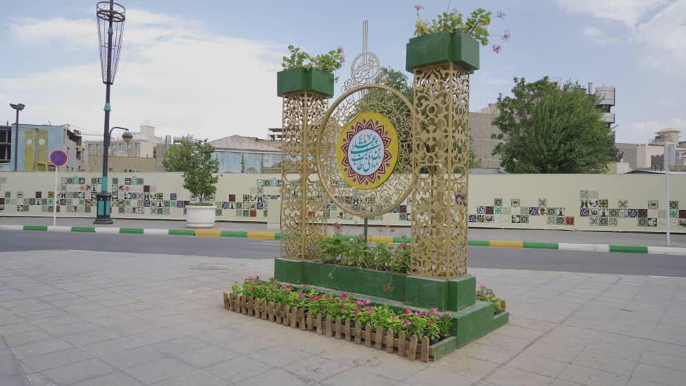مشهدالرضابا ۵۰۰ هزار بوته گل رنگارنگ به استقبال عید غدیر میرود