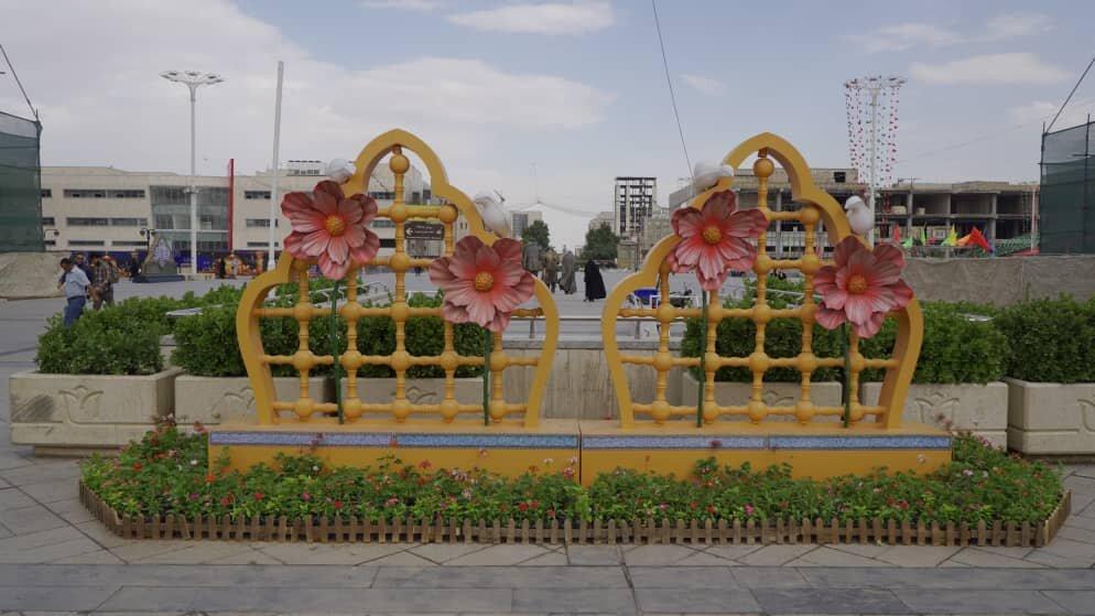 مشهد الرضابا ۵۰۰ هزار بوته گل رنگارنگ به استقبال غدیر میرود