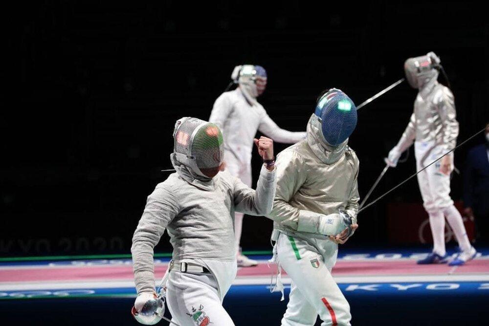 شمشیربازی ایران در رتبه ششم المپیک + عکس